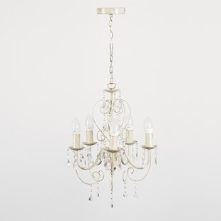 Chandeliers youll love wayfair lille 5 light candle style chandelier aloadofball Images