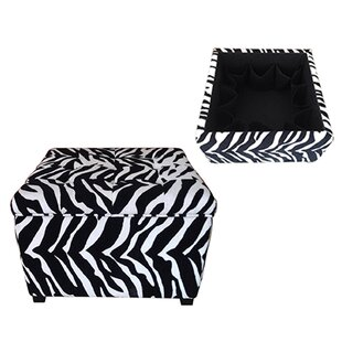 Velvain Zebra Storage Ottoman by House of Hampton