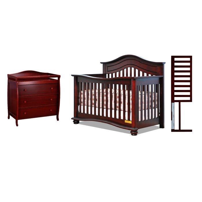 Timmy 4-1 Convertible 3 Piece Crib Set