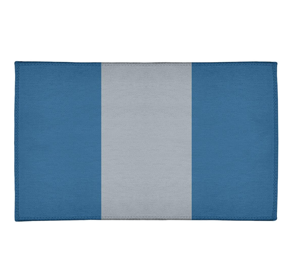East Urban Home Nhs National Hockey Stripes Blue Area Rug Wayfair
