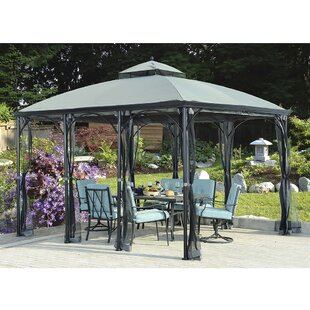 Sunjoy Columbus 10 Ft. W x 12 Ft. D Steel Patio Gazebo