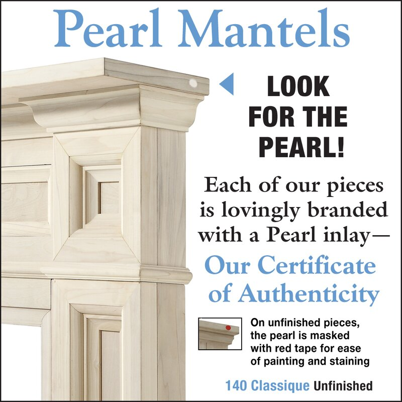 Pearl Mantels The Classique Fireplace Surround Reviews Wayfair