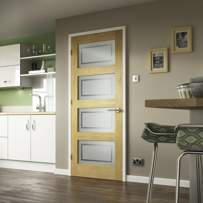 Shaker Solid Oak Glazed Slab Internal Door