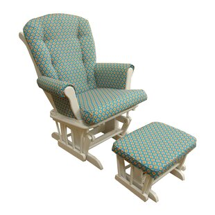 Royston Floral Glider and Ottoman by Harriet Bee
