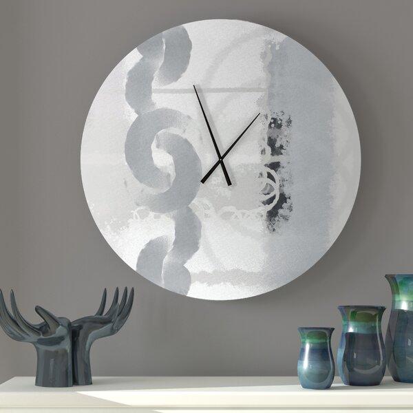 Latitude Run Organic Hospitable Abstract Metal Wall Clock Wayfair