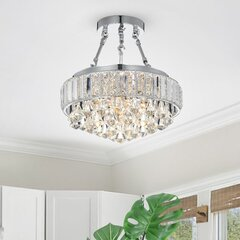 Crystal Accents Semi Flush Mount Lighting You Ll Love In 2021 Wayfair