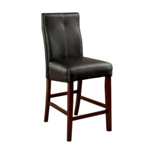 Red Barrel Studio Weronika Contemporary Leather Upholstered Dining Chair (Set of 2)