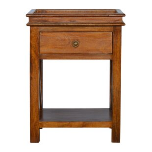 Darby Home Co Crichton Criss-Cross End Table with Storage