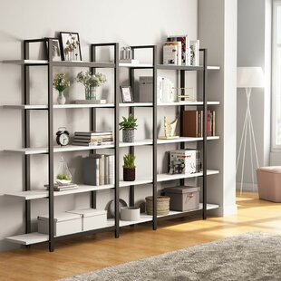 Read Reviews Andrei 5-Tier Etagere Bookcase by Wrought Studio