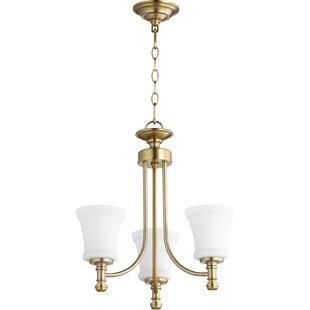 Quorum Rossington 3-Light Shaded Chandelier