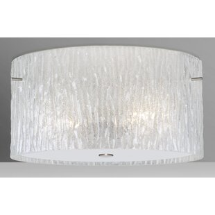Price Check Tamburo 3-Light Outdoor Semi Flush Mount By Besa Lighting