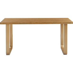 Gerard Dining Table, Sonoma Oak and Gold Tommy Hilfiger