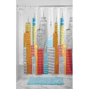 Best Price PEVA Cityscapes Waterproof Shower Curtain By InterDesign