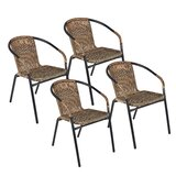 Pineville Rattan Stacking Patio Dining Chair (Set of 4) by Zipcode Design
