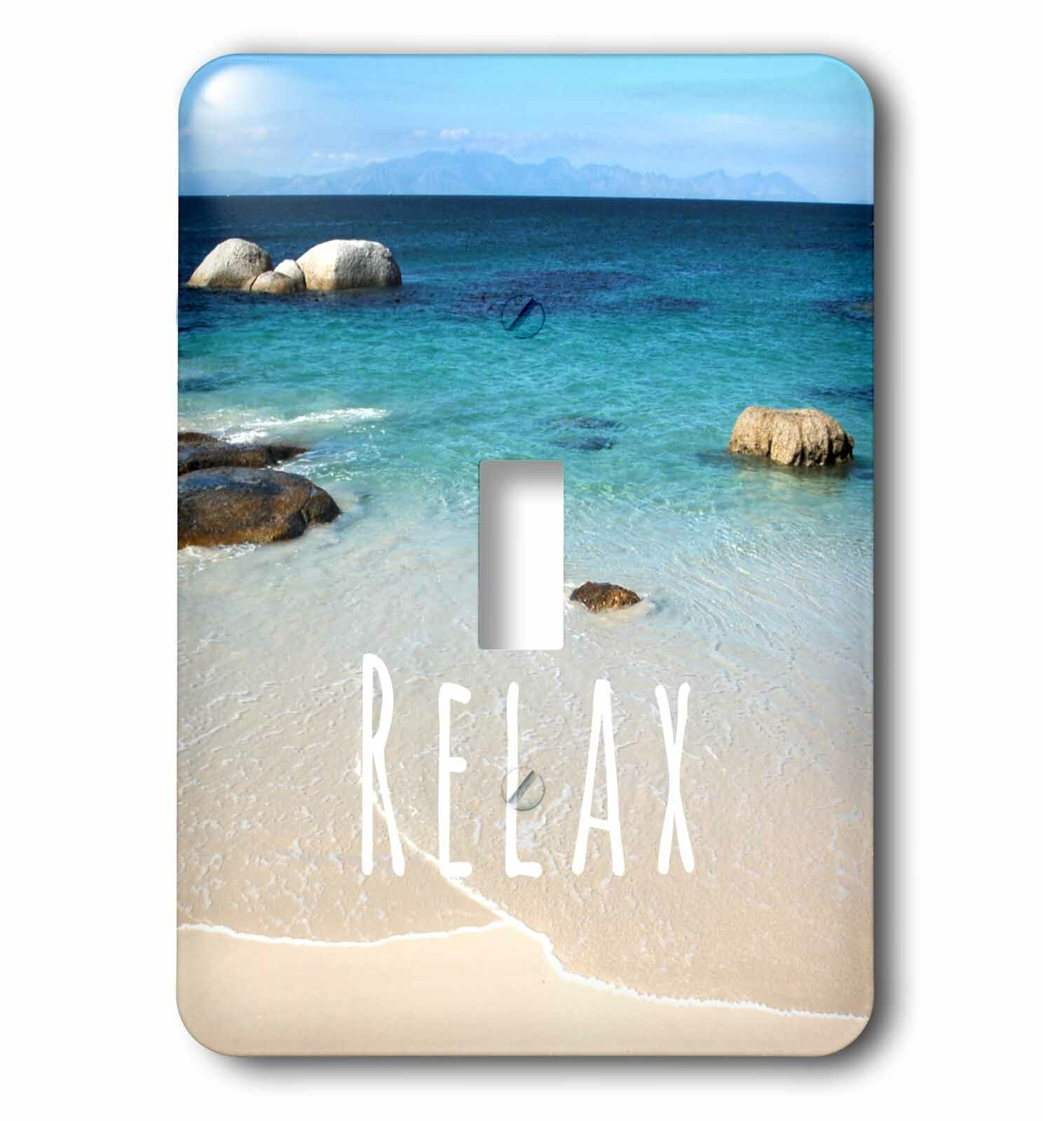 3drose Relax Positive Affirmations Inspiring Motivational Word Beach Photography Calm Ocean Sea 1 Gang Toggle Light Switch Wall Plate Wayfair