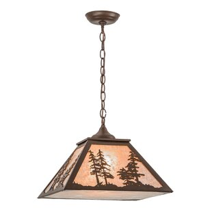Meyda Tiffany Greenbriar Oak 1-Light Dome Pendant