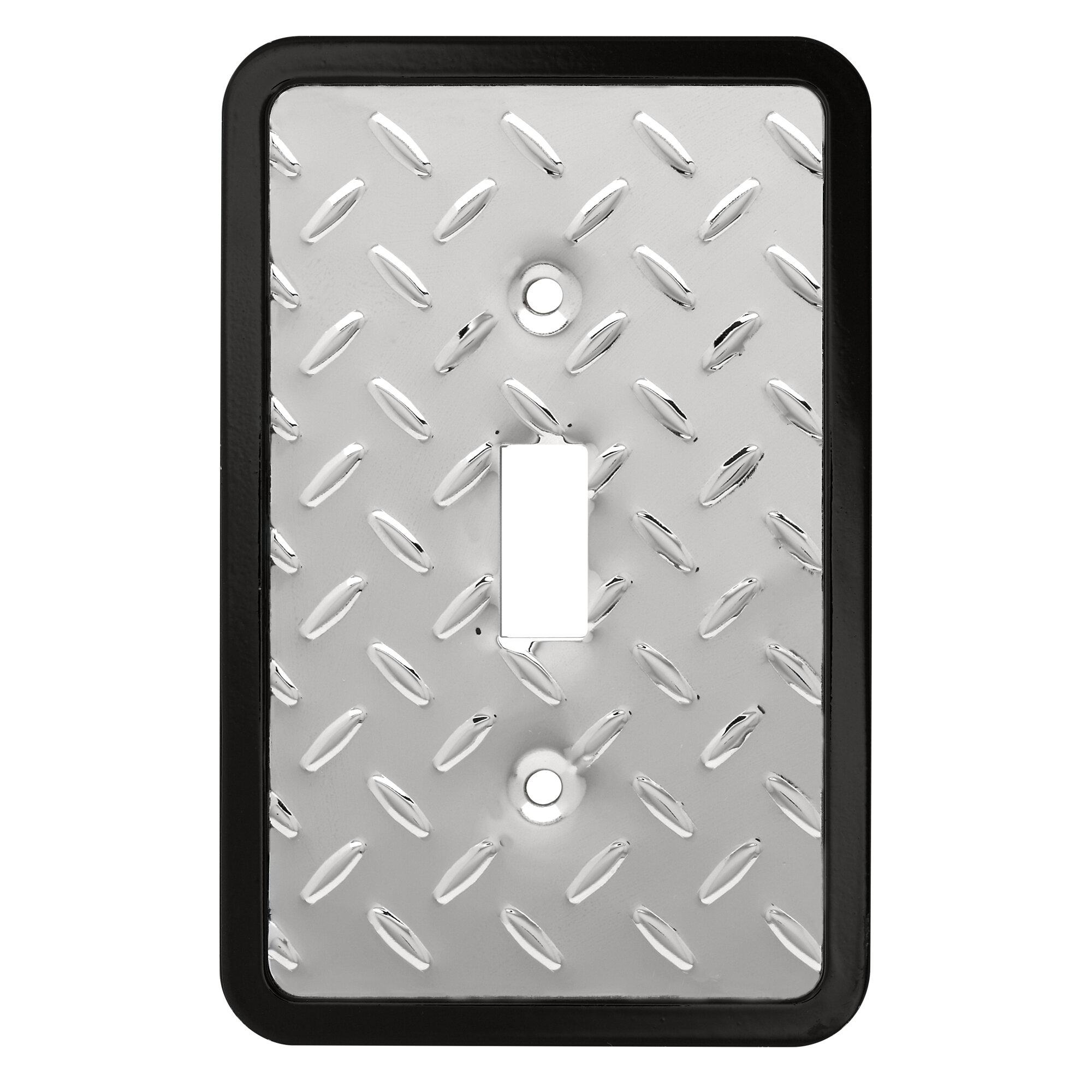 Diamond Plate 1-Gang Toggle Light Switch Wall Plate