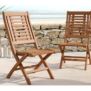 folding outdoor dining set teak roseland folding patio dining chair set of 2 chairs youll love wayfair