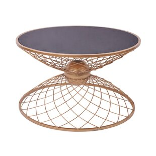 Sidney Metal/Glass End Table by Mercer41