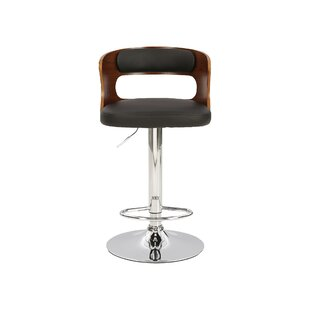 Leighton Height Adjustable Swivel Bar Stool By Hazelwood Home