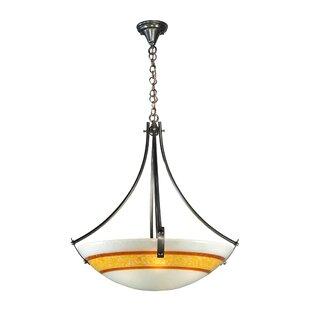 Meyda Tiffany Metro Fusion Saturno Glass 4-Light Bowl Pendant