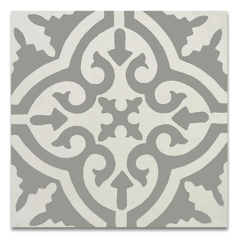 Argana 8 X Handmade Cement Tile In Gray