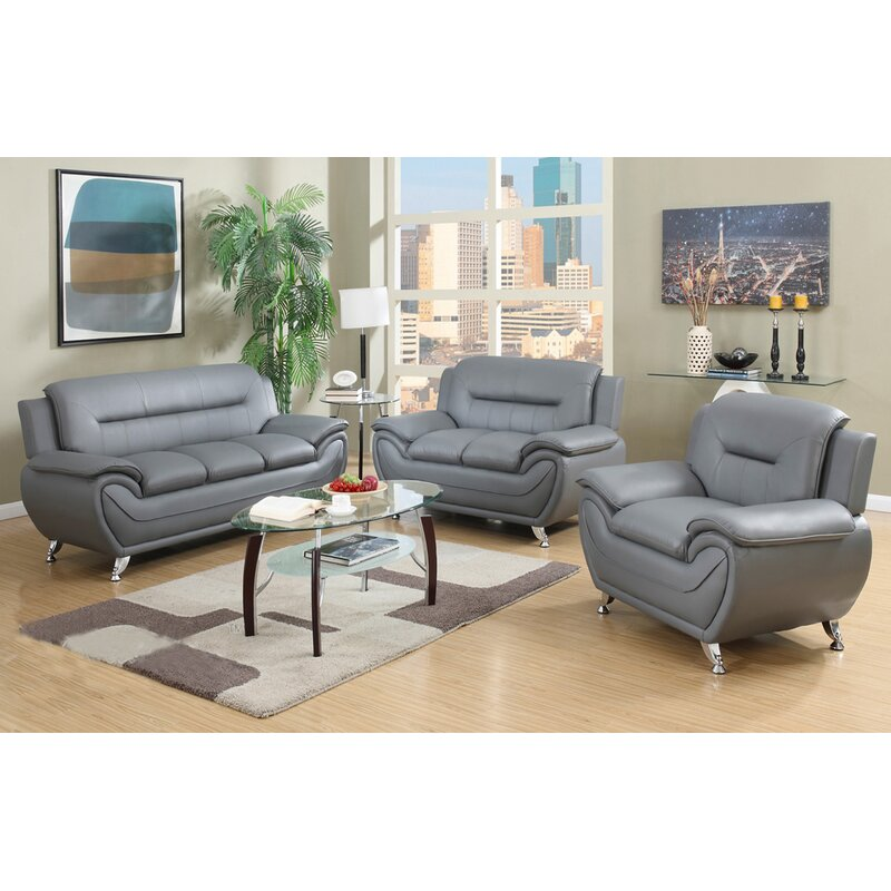 Orren Ellis Adalaide Speedy 3 Piece Standard Living Room ...