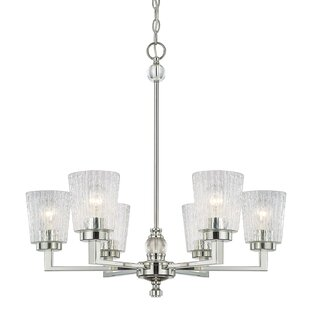 Willa Arlo Interiors Reiin 6-Light Shaded Chandelier