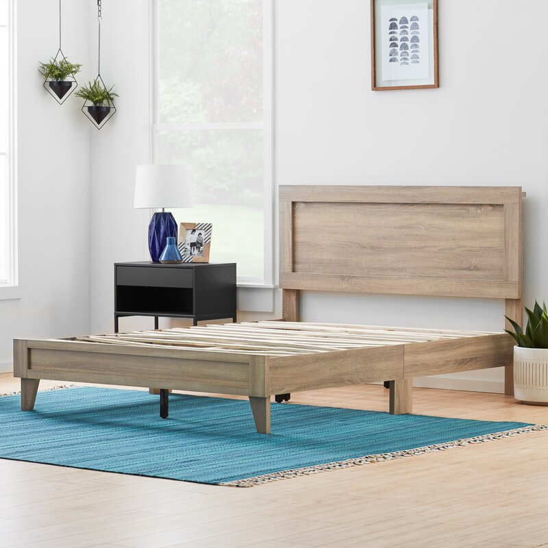 Classic Wood Platform Bed