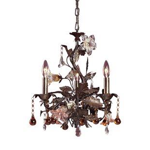 Astoria Grand Sumrall 3-Light Crystal Chandelier