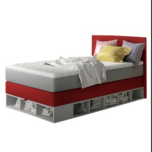 Croft Full Upholstered Storage Platform Bed with Mattress