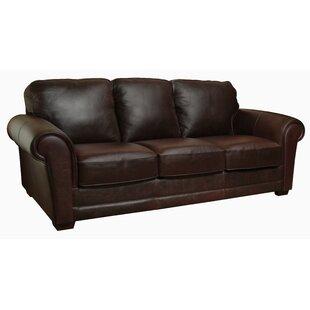Williston Forge Buda Leather Sofa