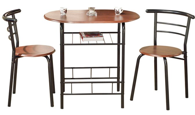 Zipcode Design Volmer 3 Piece Compact Dining Set & Reviews | Wayfair