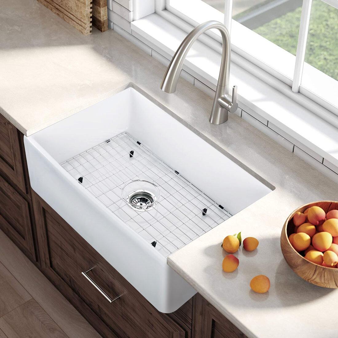 Kdk Home 30 L X 22 W Farmhouse Kitchen Sink Reviews