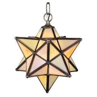 Meyda Tiffany Mission Moravian 1-Light Geometric Pendant