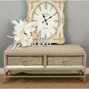 Cole & Grey Metal and Wood Storage Bench