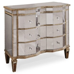 Mirrored 3 Drawer Chest