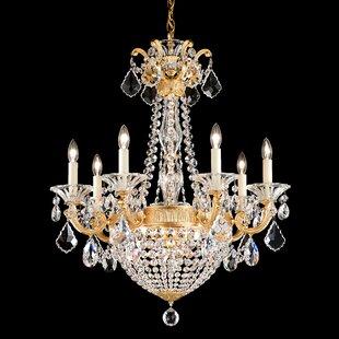 Schonbek La Scala Empire 9-Light Candle Style Chandelier