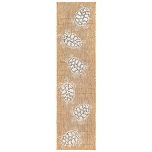 Desantiago Seaturtles Sand/White Indoor/Outdoor Area Rug
