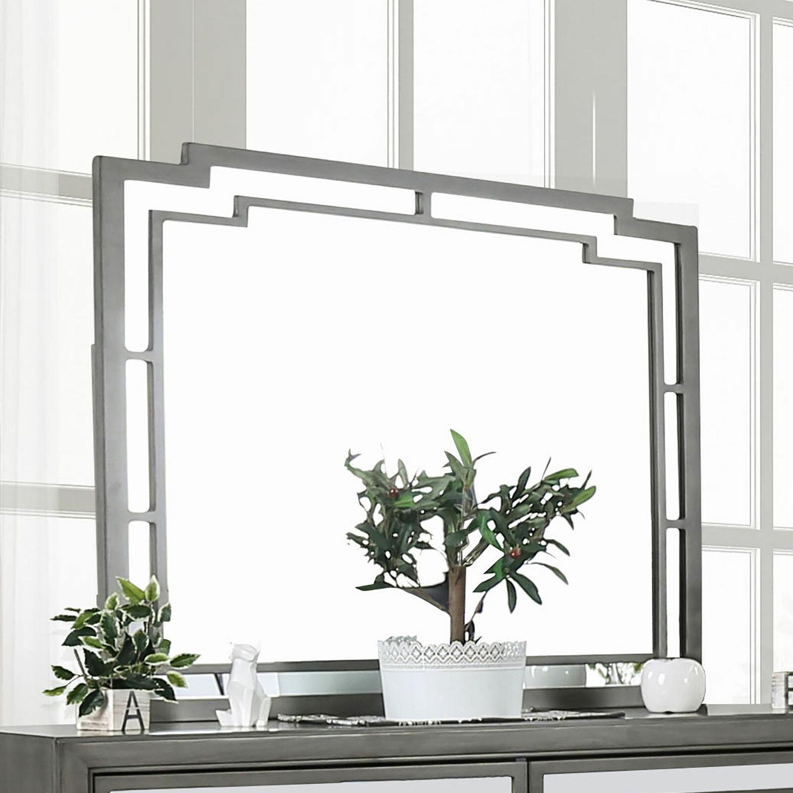 Everly Quinn Angelita Modern And Contemporary Dresser Mirror Wayfair