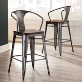 Grasser Solid Wood 26.3 Counter Stool (Set of 4) by Gracie Oaks
