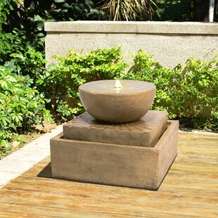 Honeycutt Resin Floor Fountain With LED Light By Sol 72 Outdoor