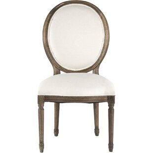 Medallion Side Chair in Linen - White by ..