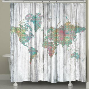 Wilton Map Single Shower Curtain