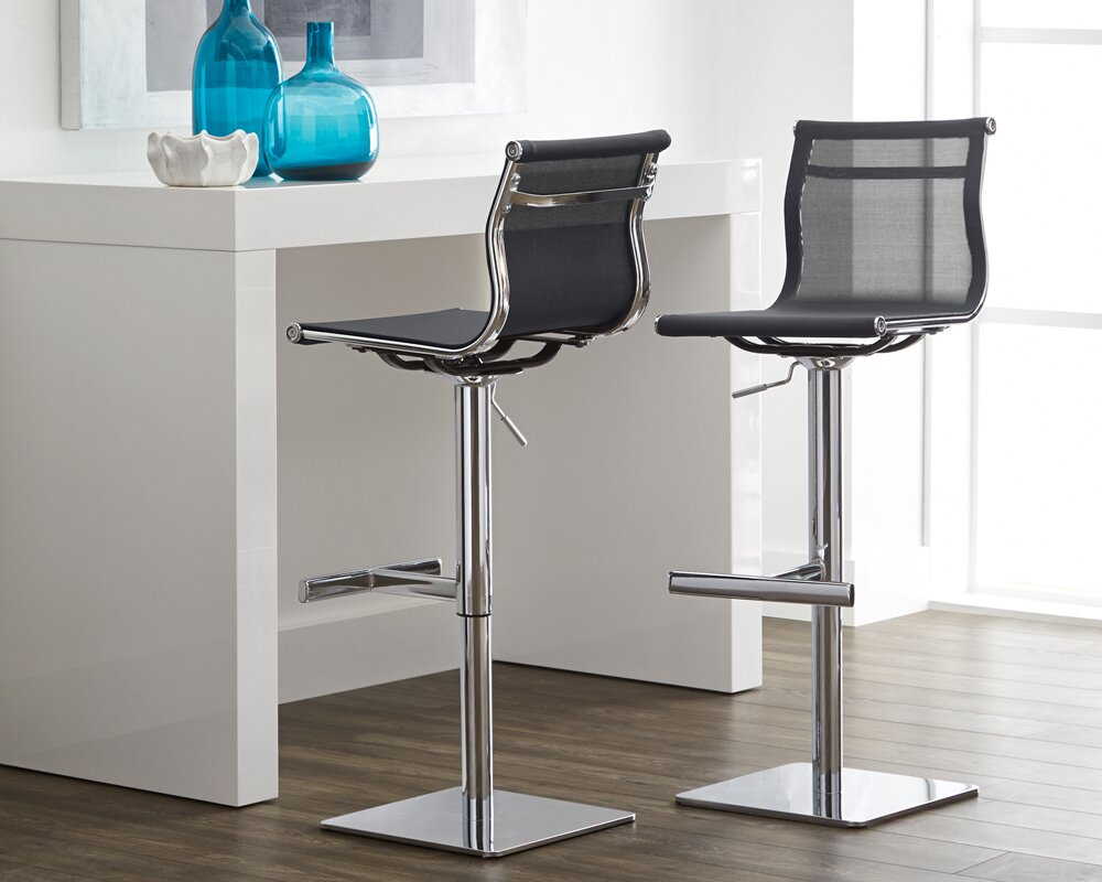 sunpan modern urban unity travis adjustable height bar stool  - defaultname