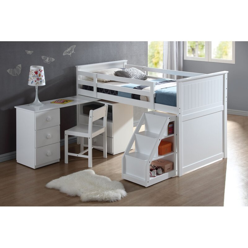 Harriet Bee Mitch Twin Loft Bed With