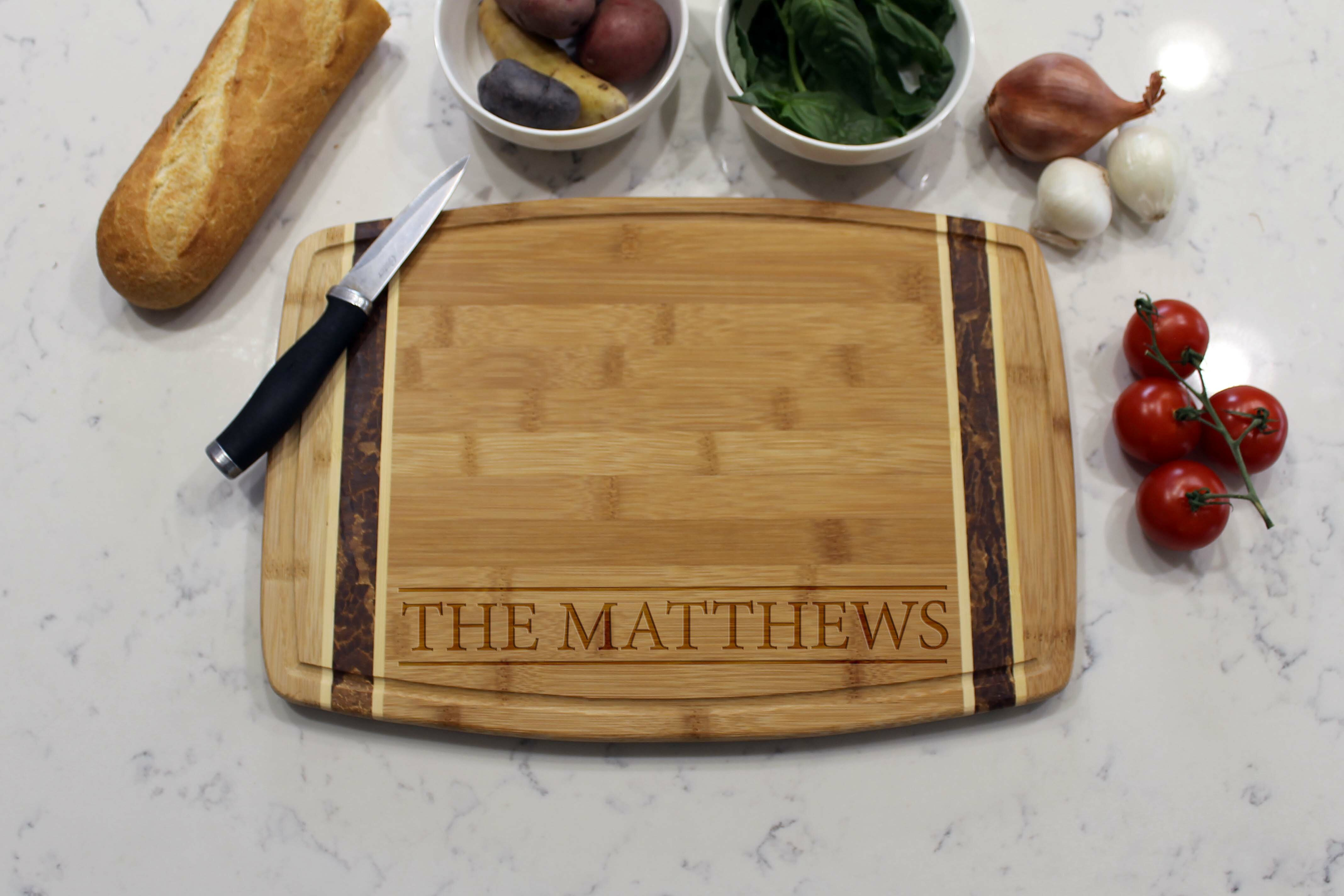 Etchey Marble Bamboo Cutting Board Wayfair