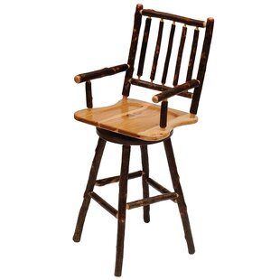 Online Reviews Hickory 30 Swivel Bar Stool by Fireside Lodge Reviews (2019) & Buyer's Guide