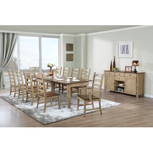Huerfano Valley 12 Piece Extendable Solid Wood Dining Set Loon Peak