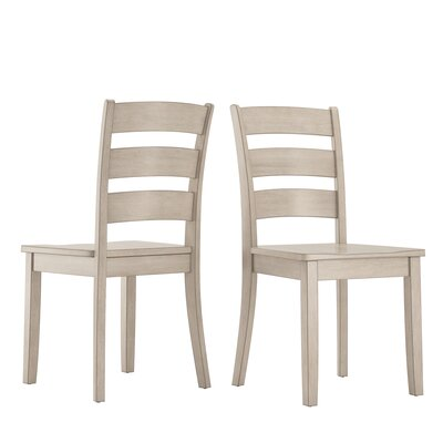 Alverson Solid Wood Dining Chair Color: Antique White by August Grove